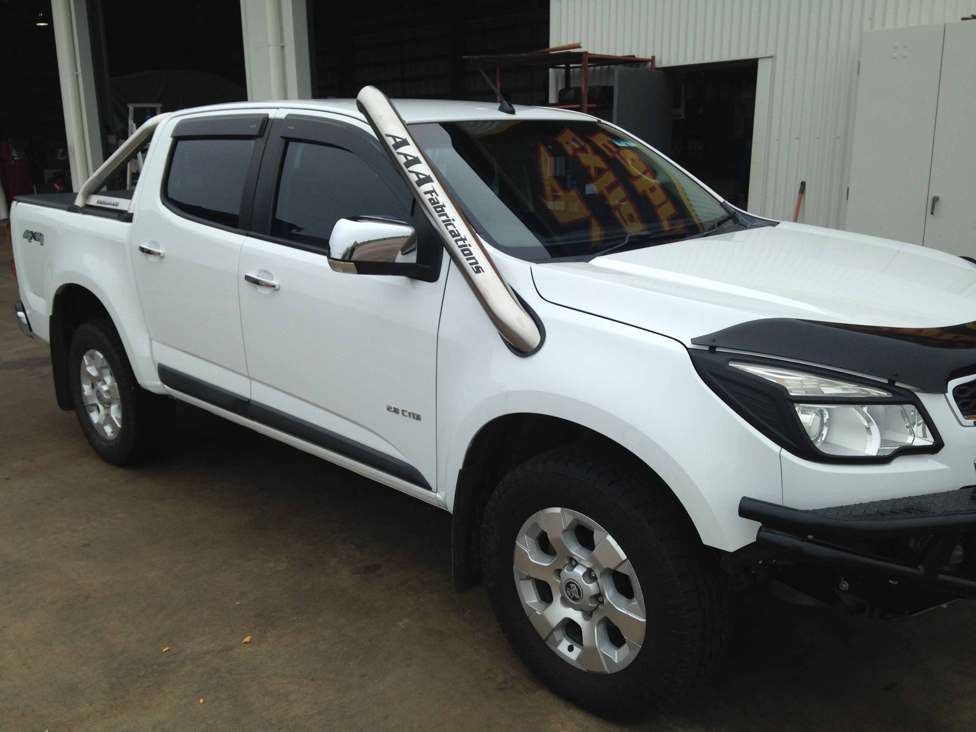 Performance Exhaust System >> Holden Colorado RG Snorkel | AAA Exhaust & Fabrications